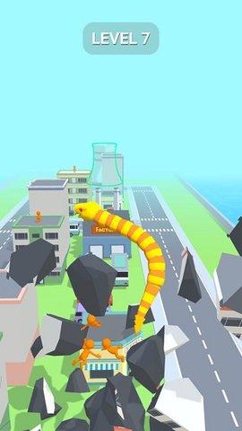 贪吃蛇摧毁城市游戏